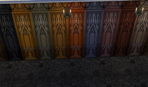 gothic style curtains my sims 4 blog gothic wallpaper floors and curtains