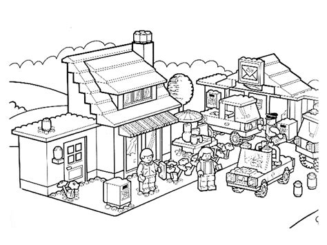 coloring page lego city lego city coloring pages coloring home
