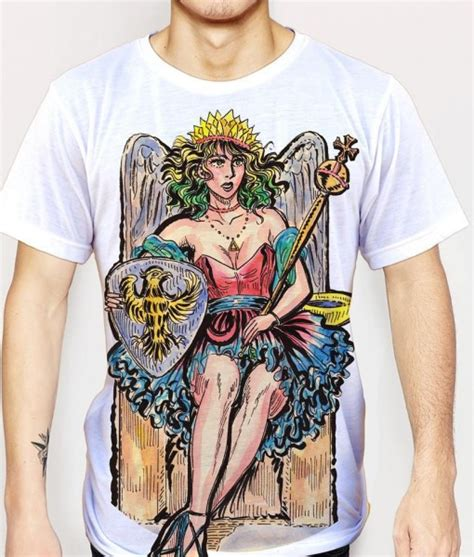Tshirt Top Arkana the empress tarot card large print unisex t shirt tarot
