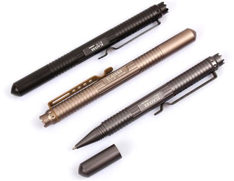 Ballpoint Tactical Pen Self Defense Bahan Allumunium Aerospace T1910 5 defensive security tactical pen glass breaker desert sand jakartanotebook