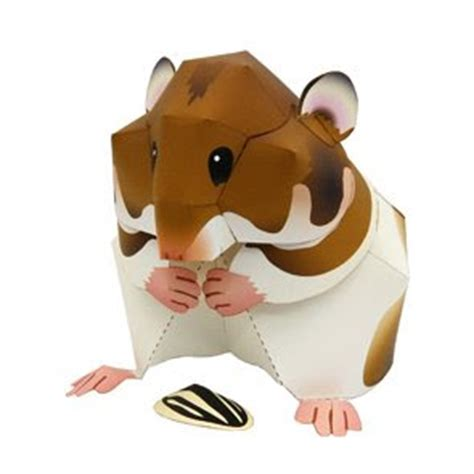 Hamster Origami - animal papercraft syrian hamster papercraft paradise