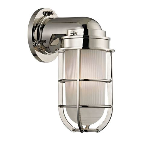 Nautical Wall Sconce Hudson Valley Lighting 240 Pn Polished Nickel Carson 1 Light Nautical Outdoor Wall Sconce With