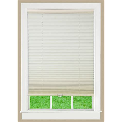 Pleated Shades For Windows Decor 1 2 3 Vinyl Room Darkening Temporary Pleated Window Shade Walmart