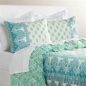 Turquoise Quilt Bedding Ombre Paisley Nalina Quilt Everything Turquoise
