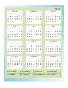Annual Calendar Templates by 2017 Annual Calendar Design Template Free Printable