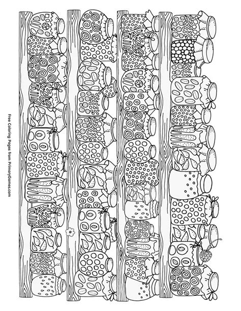 coloring pages for adults kitchen fall coloring page canning jars with food free