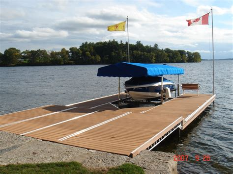dock r aluminum lift up lift up step docks r j machine