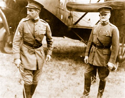 what challenge did pershing in 1917 brigadier general william billy mitchell a ahead of