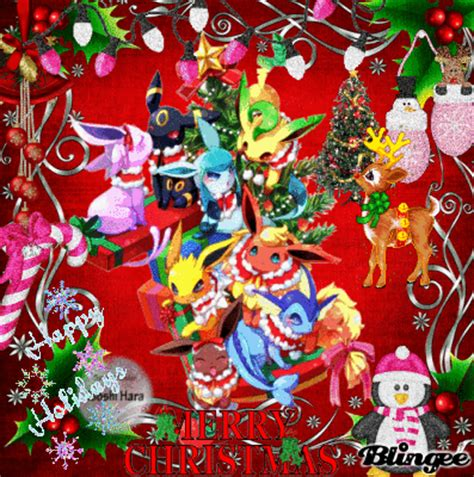 pokemon christmas picture 131227058 blingee com
