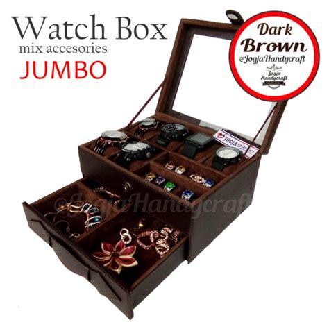 Tempat Jam Tangan Mix Aksesoris Baby Pink kotak tempat jam tangan sport mix tempat perhiasan coklat