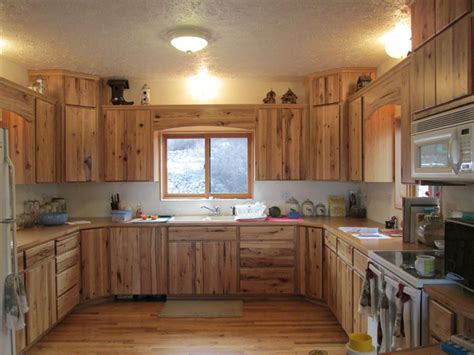 Hickory Wood Cabinets Kitchens by Surewood Custom Cabinetsrustic Hickory Kitchen Surewood