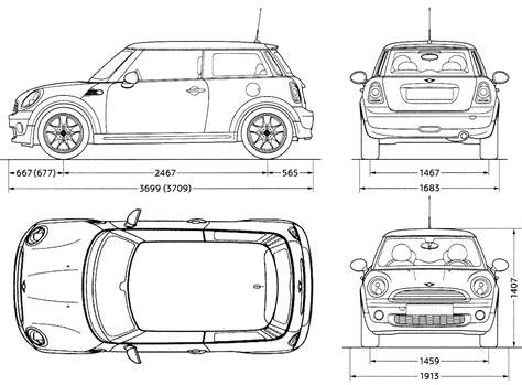 Mini Blue Print 3d Auto Club Blueprints Mini Hq