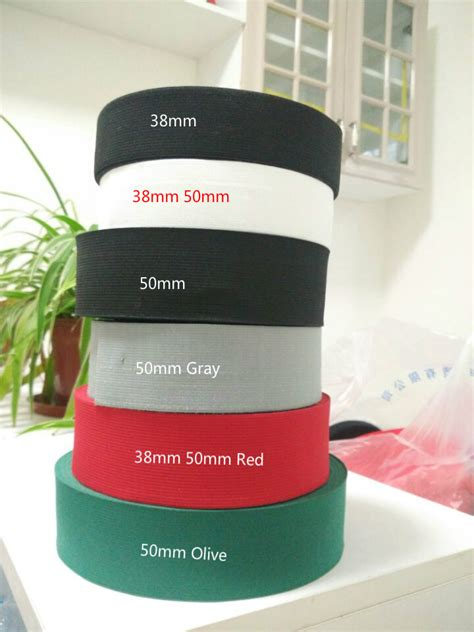 Webbing 3 8cm 2 quot 1 5 quot 3 8cm 5cm width high quality soft knit braided elastic webbing band 5 solid color for