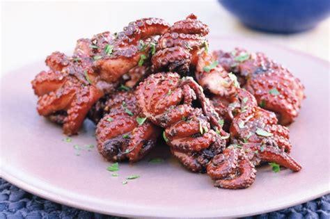 bbq octopus recipe taste com au