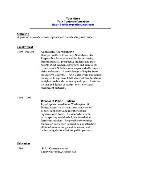 cover letter gettysburg college sle cover letter for college admissions representative