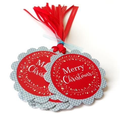 merry christmas holiday gift tags wreath christmas favor tags
