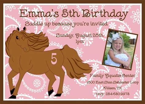 printable birthday invitations horses 144 best images about cowgirl birthday ideas on pinterest