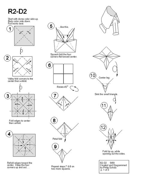 printable origami star instructions star wars origami r2d2 summer library pinterest it