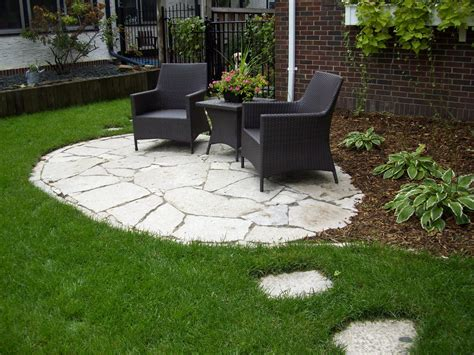 Stone Front Yard Patio Landscaping Gardening Ideas Flagstone Patio Designs