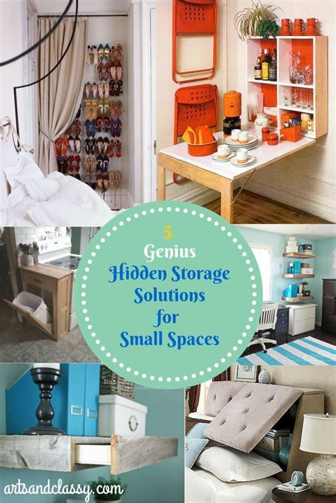 hidden storage solutions 19 best images about small room decorating on pinterest
