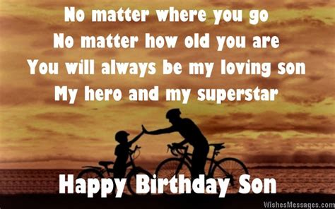 Happy Birthday Quotes For Sons by Birthday Poems For Page 2 Wishesmessages