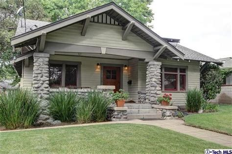bungalow house style stoney craftsman pasadena amazing stained trim