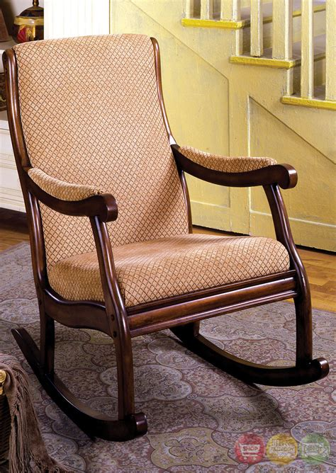 Fabric Rocking Chair by Liverpool Traditional Antique Oak Rocking Chair With