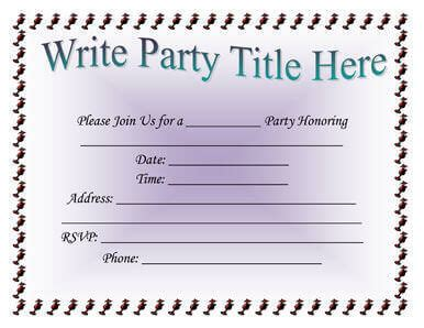 basic invitation template 26 free printable invitation templates in word