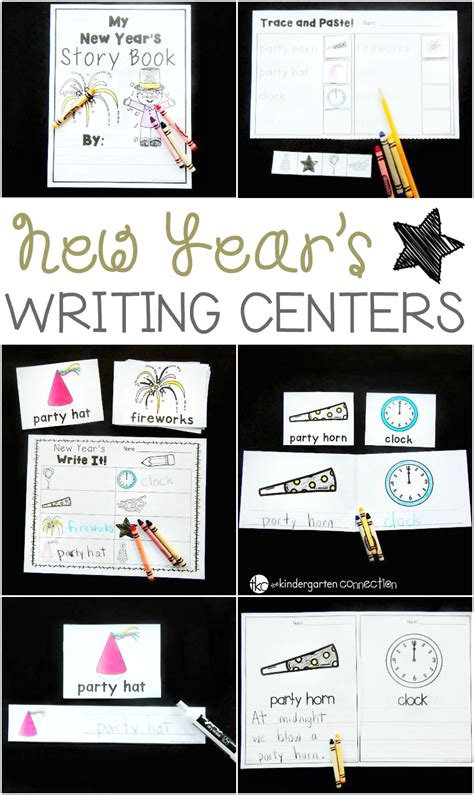 new year writing for kindergarten new year s writing centers the kindergarten connection