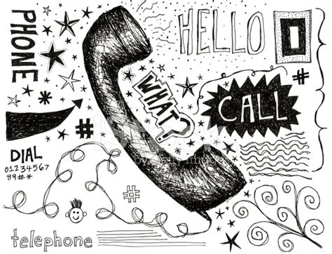 doodle telephone phone doodle stock photos freeimages