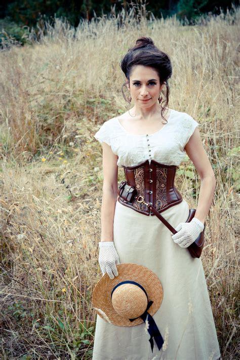 lade acetilene corseted steunk in field by lillysworkshop on