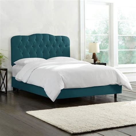 skyline tufted bed skyline tufted bed in peacock 74xbedshnpcc