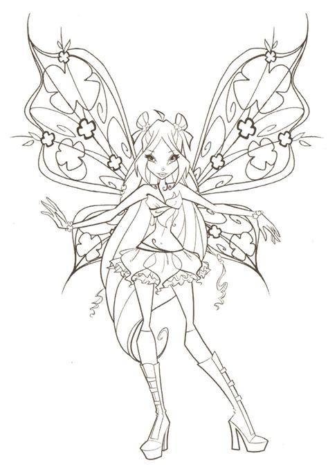 winx club flora believix coloring pages winx club