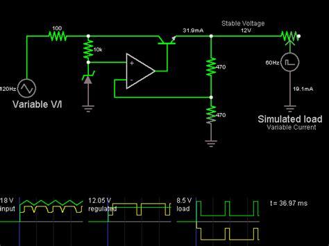 zener diode voltage regulator simulation voltage regulator circuit simulator