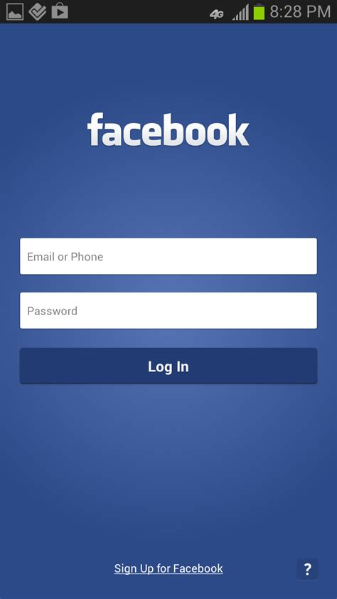 facebook login layout android facebook apk app download android free apk apps