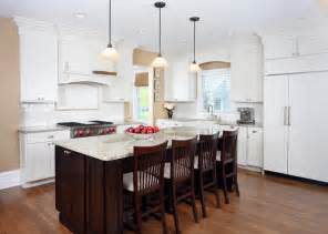 Houzz Kitchen Island White And Cherry Transitional Style Kitchen Traditional