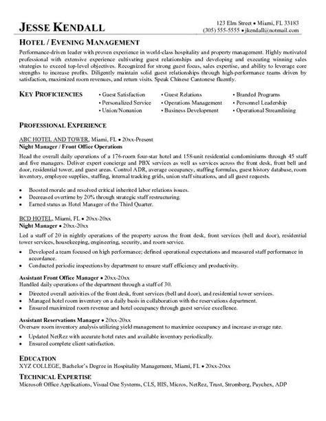 hotel resume format hotel management cv letter http jobresumesle