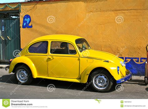 old volkswagen yellow yellow vintage beetle volkswagen stock photography image