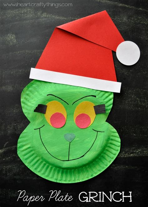 How To Make Craft With Paper Plates - paper plate grinch craft i crafty things