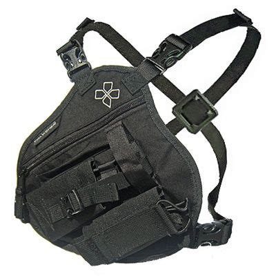 Skii Pouch B radio chest harness for wildland firefighting search and