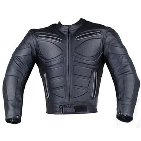 black riding jacket blade armor motorcycle riding biker leather jacket in