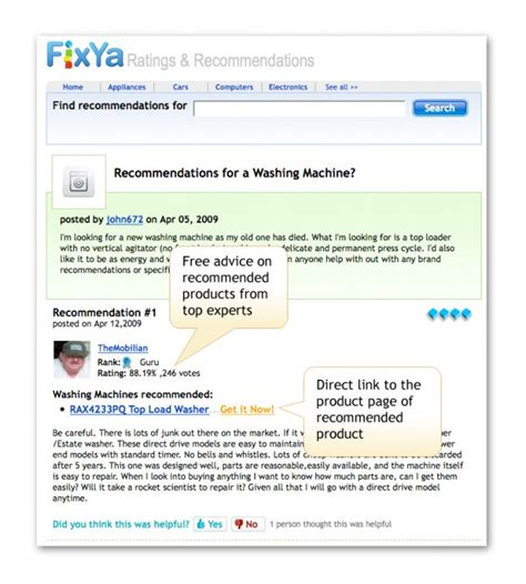 It Well Fixya by Fixya Adds Product Recommendations And Why Vc S Are