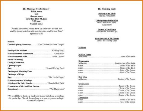 programs for wedding ceremony template best graduation program templates images documentation