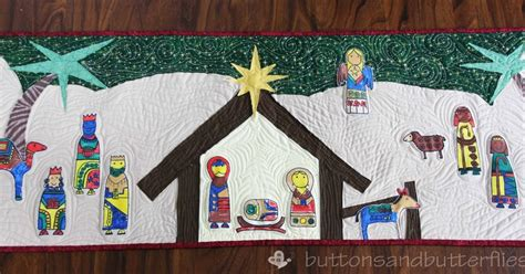 quilt pattern nativity buttons and butterflies nativity wall hanging quilt