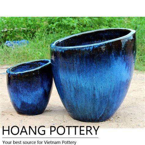 Planters Net by Blended Colours Ceramic Planters Hptv043 Hoang Pottery