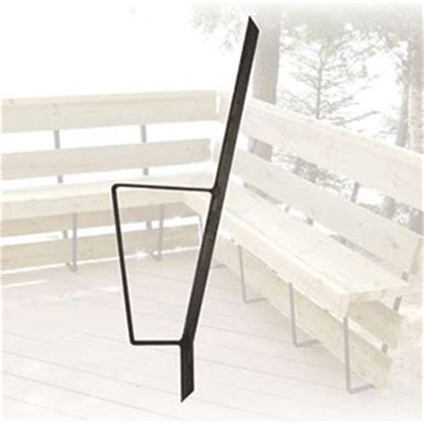 metal deck bench brackets bench bracket set black color 4 brackets bench