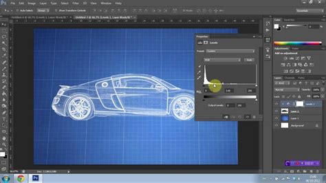 make a blueprint how to create a blueprint effect in photoshop cs6 youtube