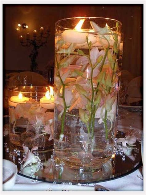 Fall Centerpieces With Feathers by Center Pieces Candles Flowers Feathers Whimsical