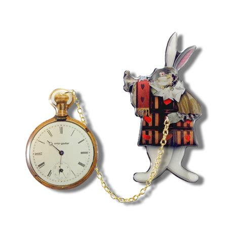 steunk clock tattoo rabbit pocket image of blouse and pocket