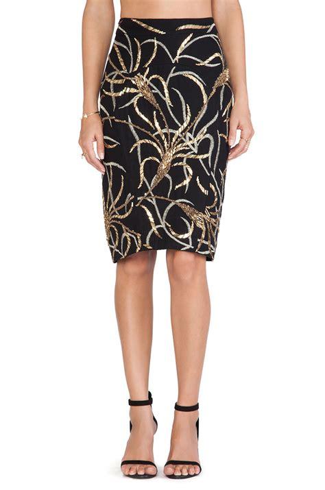 Batik Skirt lyst antik batik madura sequin skirt in black